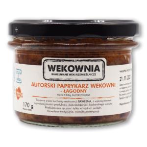 Autorski paprykarz Wekowni – łagodny 170g