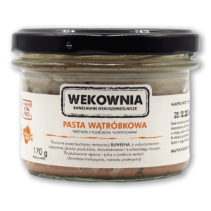 Pasta wątróbkowa – przetwór z wątróbki drobiowej 170g